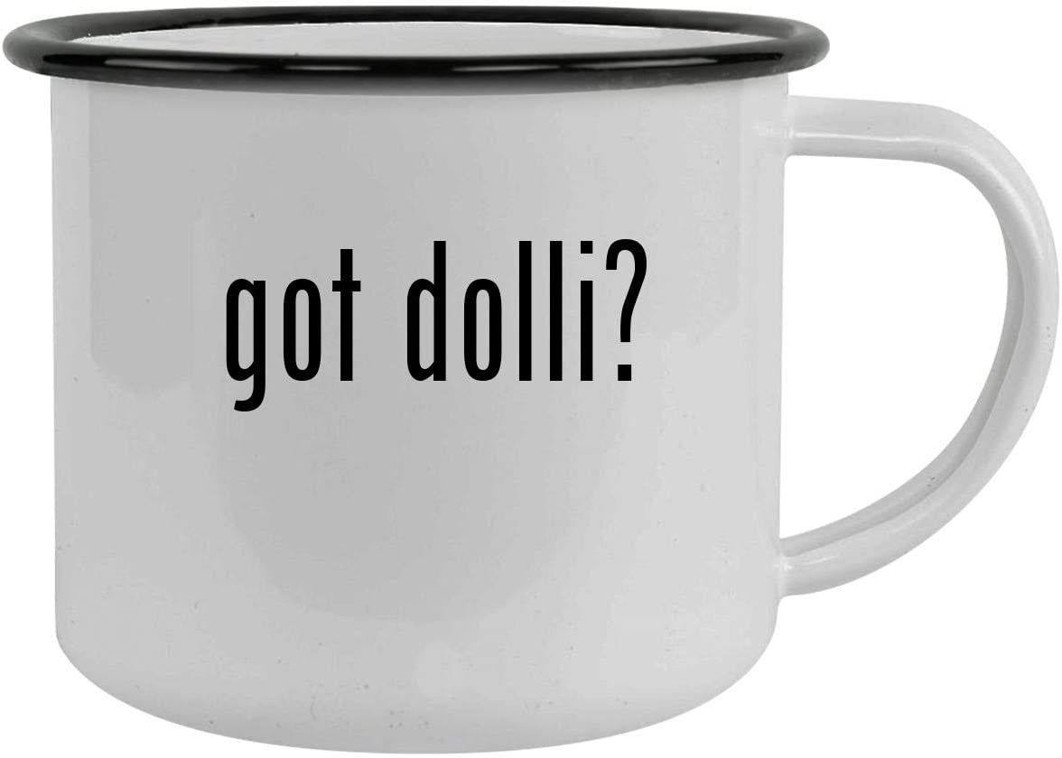 got dolli? - 12oz Camping Mug Stainless Steel, Black
