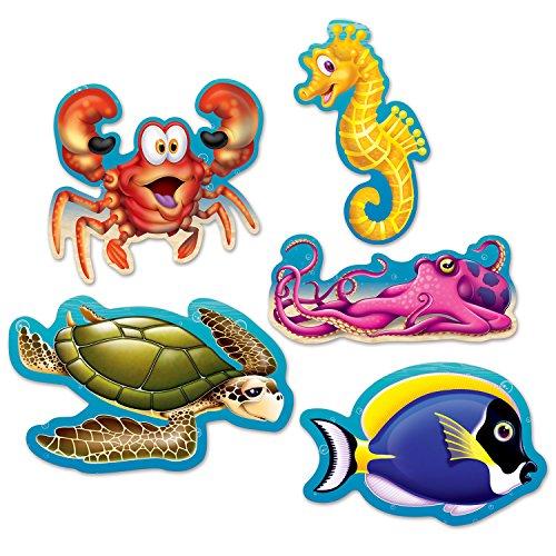 Beistle 54709 Mini Under The Sea Cutouts, 5