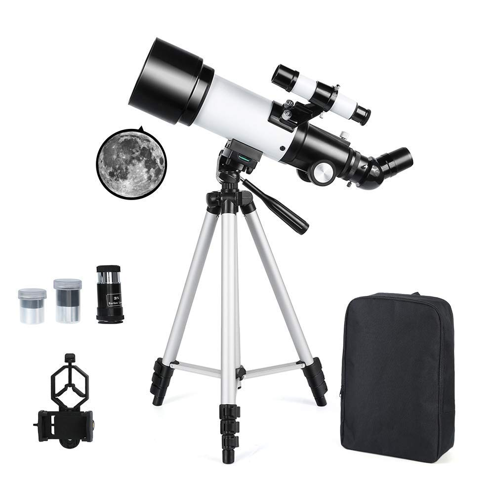 Astronomical Telescope 70mm Astronomy Refractor Telescopes with Backpack Outdoor Merkmak Telescope with Tripod - Perfect for Children Adults Educational and Gift