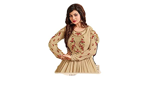 6b719cdc65 Amazon.com: Designer Wedding Salwar Kameez Fashion Bollywood Indian/Pakistani  Fashion Dresses for Women Suit (Cream, Unstitched): Clothing