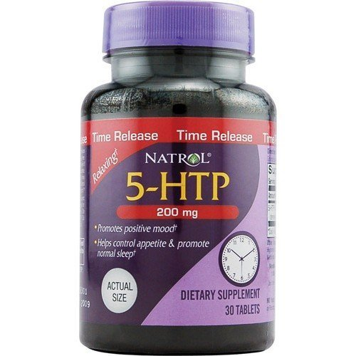 - Natrol 5-HTP Time Release, 200mg, 30 Tabs (Pack of 4)