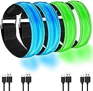 LED Bracelet Rechargeable - LED Armband Rechargeable - Running Light Armband - High Visibility Led Running Lig