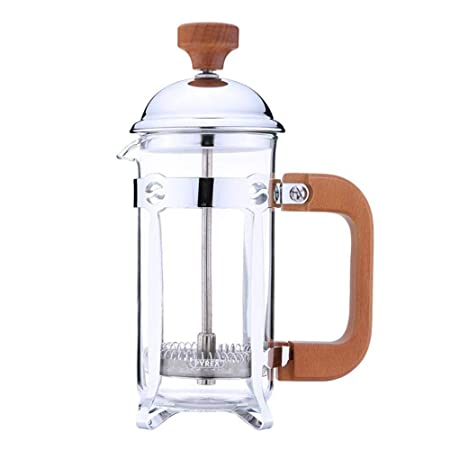 Cafetera hueca de vidrio de acero inoxidable Filtro francés ...