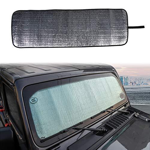 Car Interior Accessories Front Windshield Sunshade Anti UV Rays Sun Visor Shade Cover Decor Trim for Jeep Wrangler JL 2018 2019