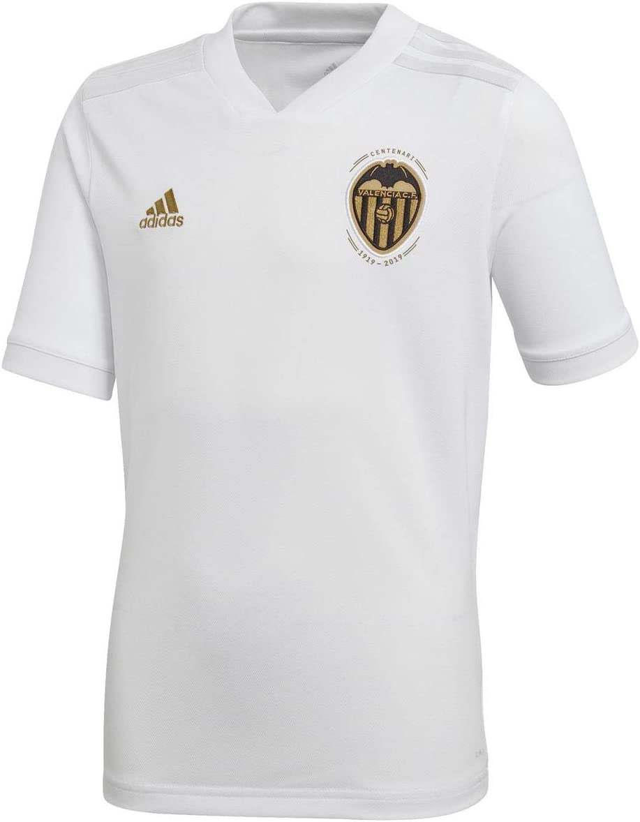 adidas VCF H JSY Y - Camiseta 1ª equipación Valencia CF, Niño, Blanco(Blanco/Balcri): Amazon.es: Deportes y aire libre