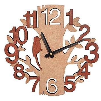 Giftgarden Reloj de Pared en Forma de árbol de Relojes de Madera: Amazon.es: Hogar