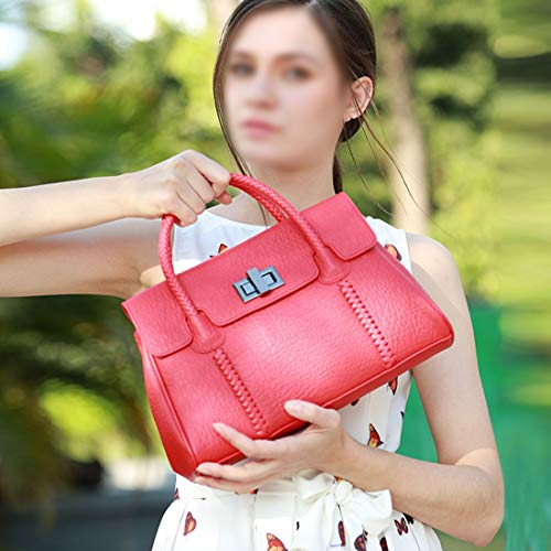 Borsa Donna Tracolla Diagonale color Red In Con Da Casual Intrecciata Green Pelle Spalla Magai dAwHXd