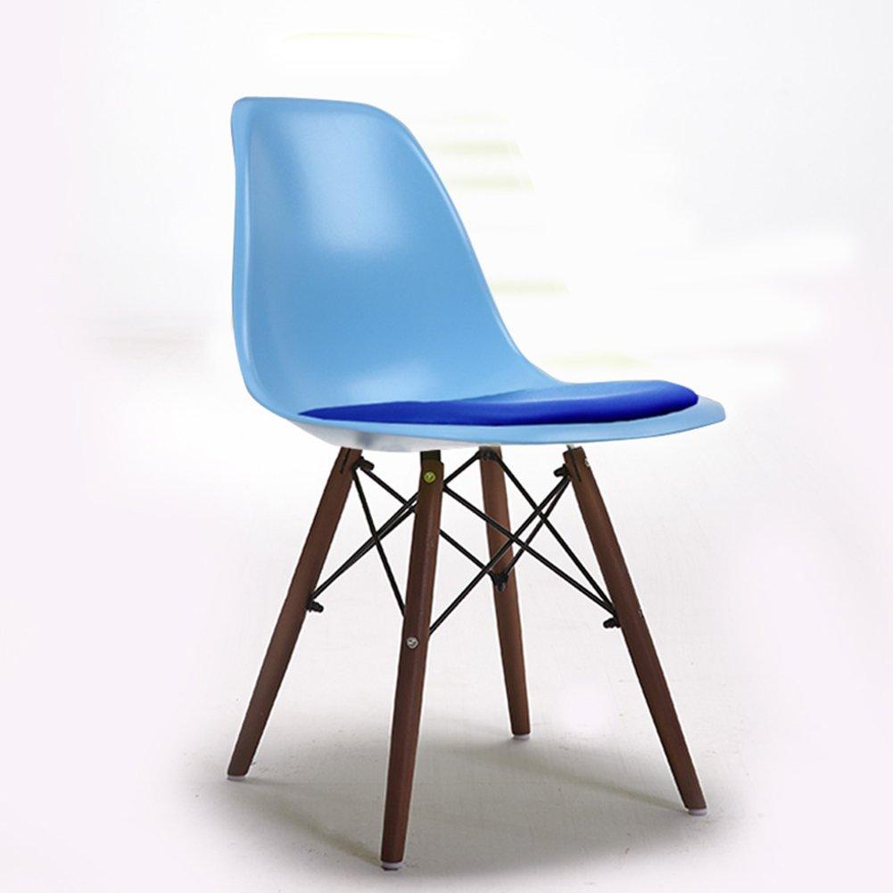 北欧ダイニングチェアゲストルームレストランベッドルームリビングルームカフェホテルモダンシンプルファッションの背もたれの椅子 (色 : Blue, サイズ さいず : Set of 4) B07F3532MF Set of 4 Blue Blue Set of 4