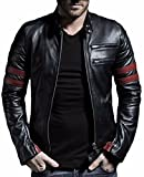 PRIME Men's Polyurethan Leather Jacket RL-01 (RL-Black, L)