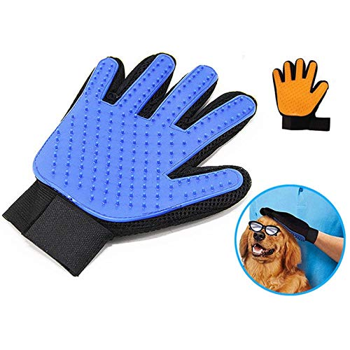 Fragil Tox Pet Hair Glove Comb Pet Dog Cat Grooming Cleaning Glove Deshedding Left Right Hand Hair Removal Brush Promote Blood Circulation