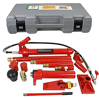 F2C 10 Ton Porta Power Hydraulic Jack Repair Tool Kit Power Set Auto Tool (10 Ton)