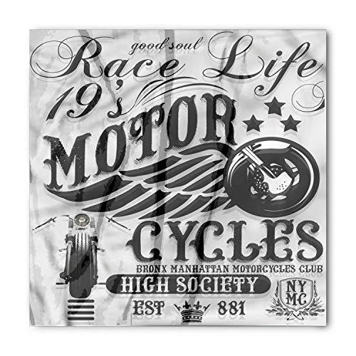 Motorcycle Bandana, Race Life Theme Vintage, Unisex Head and Neck Tie