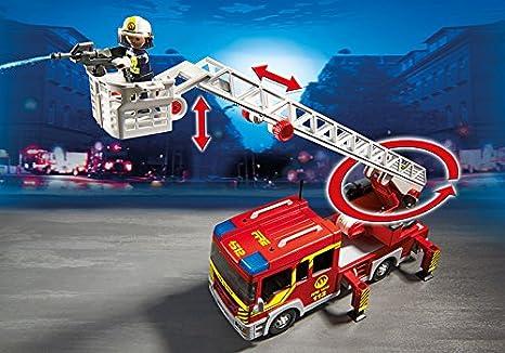 Playmobil Bomberos - Camión y escalera con luces y sonido, playset (5362): Amazon.es: Juguetes y juegos