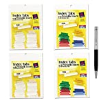 Avery Index Tabs with Printable Inserts, 1 Inch, Clear/Assorted, 100 Tabs Per Bundle - Bundle Includes Plexon Ballpoint Pen