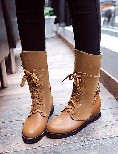 Vestido Y Beige us10 Brown Uk6 Eu42 Cn40 negro Zapatos 5 us8 Marrón Botas 5 Semicuero De Punta Casual Cn43 Oficina Uk8 5 Mujer Trabajo Bajo Eu39 5 Xzz Cerrada Tacón Redonda v7fqnTS