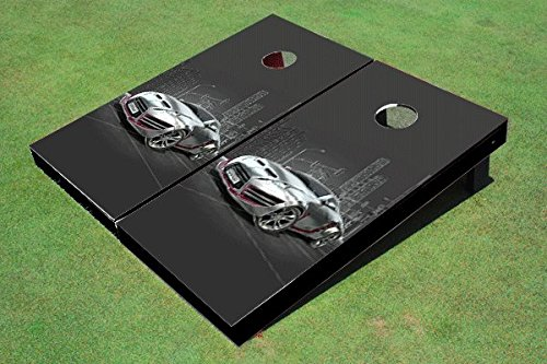 Silver Sports Car Cornhole Set, 2x3 (24