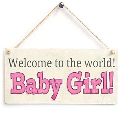 amazon com welcome to the world baby girl newborn baby wooden