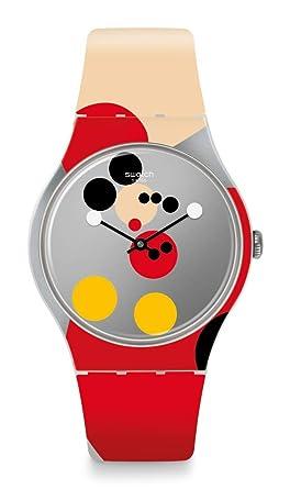 Swatch Special Mirror Spot Mickey SUOZ290S Reloj Edición Muy Limitada: Amazon.es: Ropa y accesorios