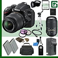 Nikon D3200 CMOS DSLR Camera with 18-55mm VR Lens (Black) + Nikon 55-300mm f/4.5-5.6G ED VR AF-S DX Lens + 32GB + Green's Camera Bundle Basic Intro Review Image