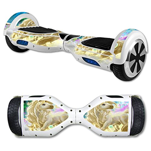 MightySkins Skin Compatible with Hover Board Self Balancing Scooter Mini 2 Wheel x1 Razor wrap Cover Sticker Unicorn