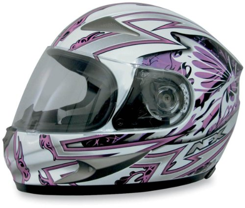 AFX FX-90 Passion Helmet , Size: XL, Primary Color: Pink, Helmet Type: Full-face Helmets, Helmet Category: Street, Distinct Name: Pink/Pearl White Passion, Gender: Womens 0101-5836