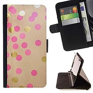 For LG G4 Case , Bricolaje Oro Papel Rosa Marrón- la tarjeta de Crédito Slots PU Funda de cuero Monedero caso cubierta de piel