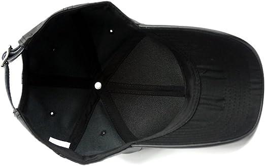 LOCOMO Men Women PU Synthetic Leather Baseball Cap Snapback FFH376BLK