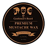 #10: The Gentlemen's Premium Mustache Wax - Double The Normal Size - 2 OZ - Fragrance Free - For A Strong All-Day Hold Without Stiffness Or Greasiness - Dries Invisible -