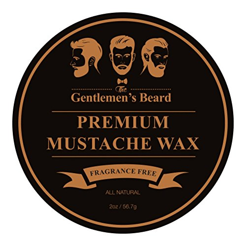 The Gentlemen's Premium Mustache Wax - Double The Normal Size - 2 OZ - Fragrance Free - For A Strong All-Day Hold Without Stiffness Or Greasiness - Dries Invisible - (Beard Oil And Mustache Wax compare prices)
