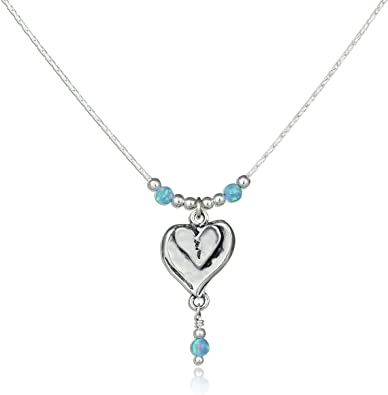 Stera Jewelry 925 Sterling Silver Necklace Made with Swarovski Crystal Cross Pendant 18 4 Inches