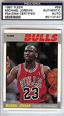 Michael Jordan Signed 1987 Fleer Card - Certified Authentic