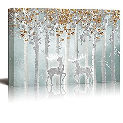 Mystical Forest Elk - Canvas Art