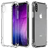 Cheap iPhone X Case, iPhone 10 Case, TUPREX Crystal Clear TPU Ultra Slim Protective Scratch-Resistant Shockproof Case for Apple iPhone X/iPhone 10 – Clear