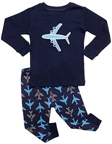 DinoDee Kids Boys Pajamas 2 Piece Pjs Set 100% Cotton (2 Toddler-10 Years) Variety of Prints