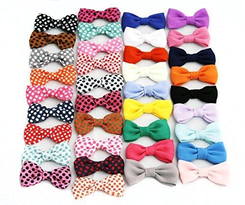 Chiffon Tuxedo Bow Tie Appliques - Grab Bag 10 Bows (Tuxedo Chiffon)