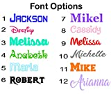 Name or Word Decal Sticker for Tumblers, Water Bottles, Car Windows, Laptops - Gloss Colors or Glitter Vinyl Letters Die Cut