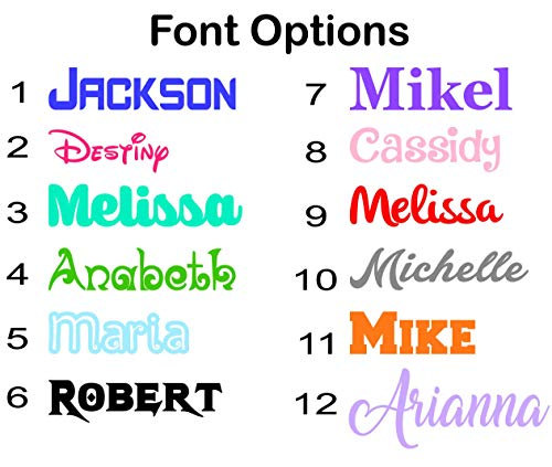 Name or Word Decal Sticker for Tumblers, Water Bottles, Car Windows, Laptops - Gloss Colors or Glitter Vinyl Letters Die Cut (Name Laptop Stickers)