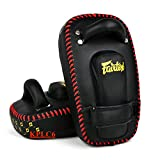"FAIRTEX MUAY THAI KICKBOXING ""SMALL CURVED"" THAI PADS -KPLC6 -MICRFIBRE MATERIAL"