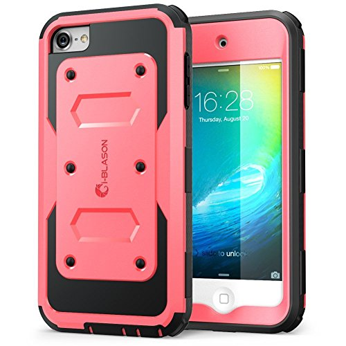 i-Blason Armorbox Case Designed for iPod Touch 7/6/5, Full Body Case with Built-in Screen Protector for Apple iPod Touch 5th/6th/7th Generation, Pink (Case Wood 5 Ipod)