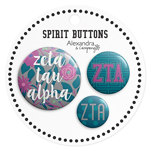 Alexandra and Company Buttons, Zeta Tau Alpha