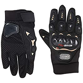 Probiker Imported Mesh Fabric Fire Roller Motorcycle Gloves (Black, X-Large) (3805)