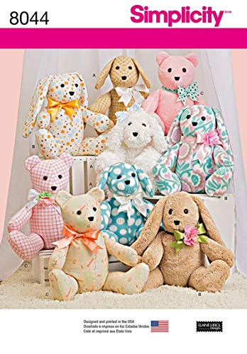 - Simplicity Creative Patterns US8044OS Simplicity Patterns Two-Pattern Piece Stuffed Animals Size: Os (One Size), 8044