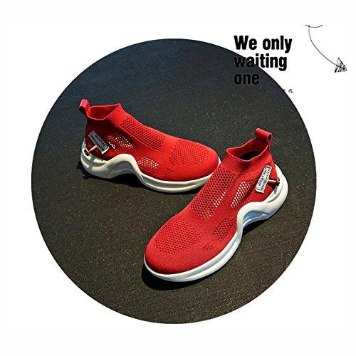 Farbe Neue Studenten Laufschuhe Breathable Frauen Casual Pedal Sportschuhe 2018 Rot Version Ein 37 Schuhe Sneakers Tide Sommer Mesh Größe Weiß Hohl Koreanische Cfq4T