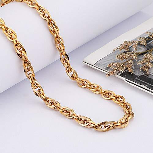 FidgetKute Hip-Hop Mens 18k Gold ed Chain Necklace 6mm 26