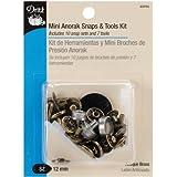 Dritz Mini Anorak Snaps & Tools Kit -Ant Brass-12mm-10Ct