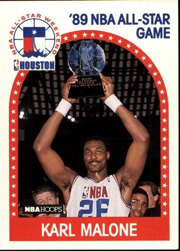 1989 NBA Hoops - Karl Malone - NBA All Star Weekend - Card 116