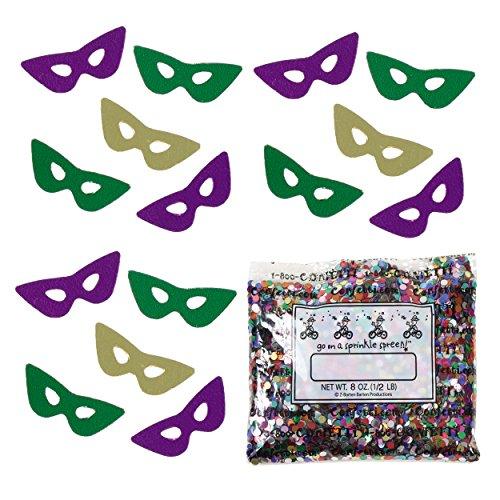 Confetti Mask: Harlequin Masquerade Mix - Half Pound Bag (8 oz) FREE SHIPPING --- (Cheap Masquerade Masks In Bulk)