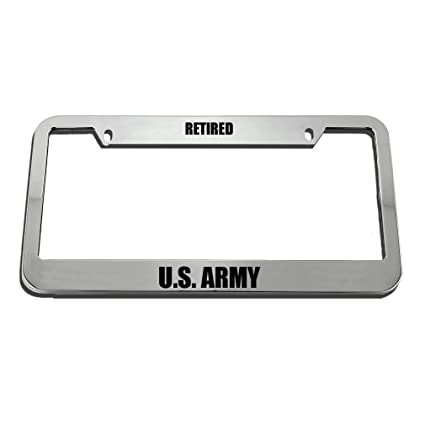 Retired U.S Army License Plate Frame Tag Holder