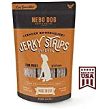 "Gourmet Jerky Dog Treats - MADE IN USA with American Chicken. Slow Smoked & Tender 6"" Jerky Strips. No Artificial Fillers, Wheat, Corn or Soy 