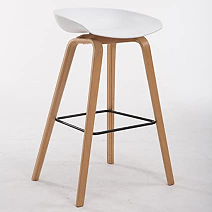 GZD Taburete alto Taburetes modernos de cocina con patas de madera ...